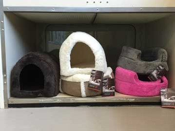 Pet beds for sale at The Left Paw